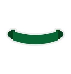 Green ribbon icon Label design graphic vector image vector image