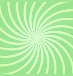 green spiral vintage vector image vector image