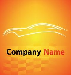logo garage auto motor car vector image vector image