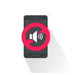 Silence cell phone sign vector
