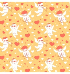 Valentines Day romantic seamless pattern with cute vector image