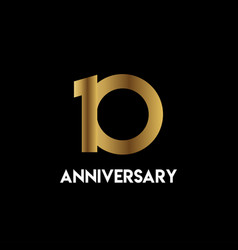 10 year anniversary simple template design vector