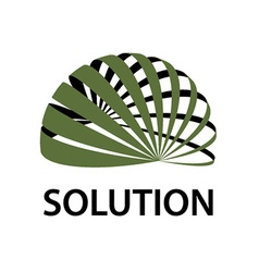 3D abstract sphere icon global solution symbol vector