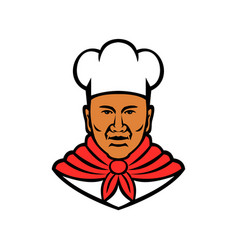 african american baker chef cook mascot vector image