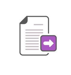 arrow documents files pages right icon vector image