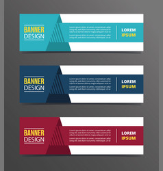 arrow with shadow triangle on style banner vector image