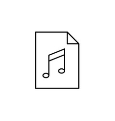 audio document file paper outline icon signs and vector image