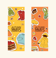 Autumn sale offer banner for website banner items vector