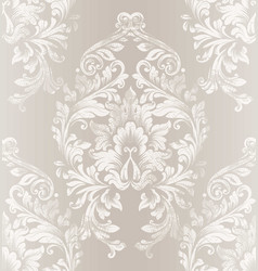 Baroque damask pattern royal fabric vector