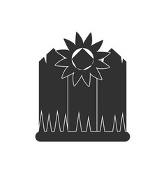 Black icon on white background fence and vector