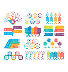 Bundle infographic elements in flat style for vector