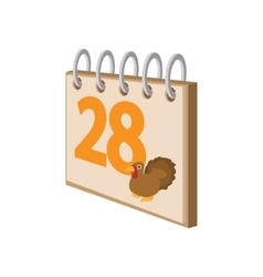 Calendar november 24 cartoon icon vector