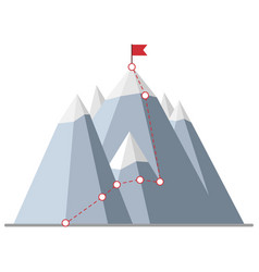 Climbing route to peak vector