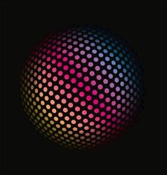 colored dots spherical 3d background pattern vector image