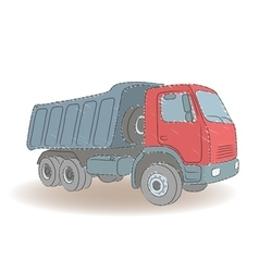 Colored tipper vector image
