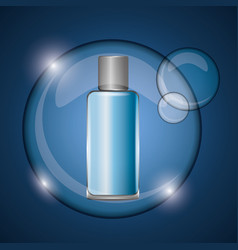 Cosmetics bottle skincare vector