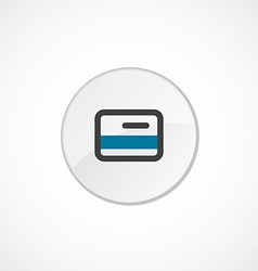 Credit card icon 2 colored vector