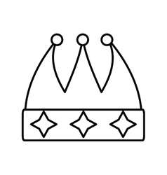 Crown decorative drawing isolated icon vector