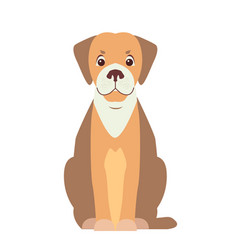 cute beagle dog cartoon flat icon vector image