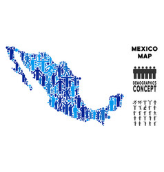 Demographics mexico map vector