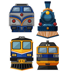 Different types trains vector