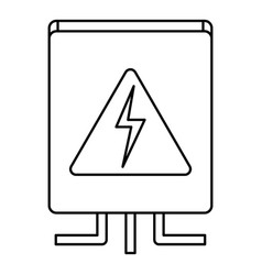 Electrical box icon outline style vector