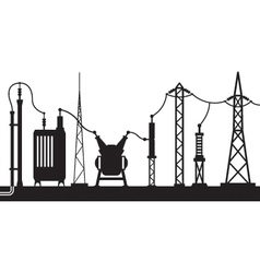 Electrical substation scene vector
