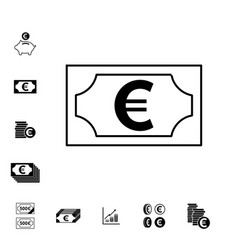 euro icons isolated vector image