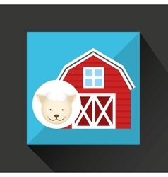 Farm countryside animal design vector