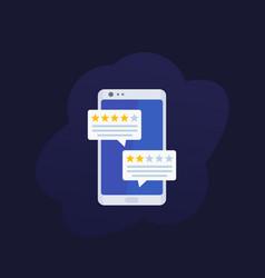 Feedback mobile review vector