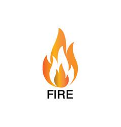 fire tech logo vector image