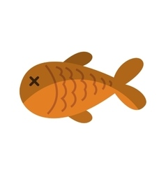fish meat isolated icon vector image