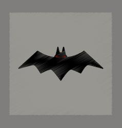 Flat shading style icon halloween vector