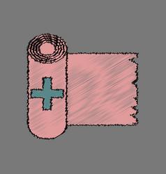flat shading style icon medicine napkins vector image