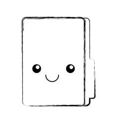 Folder file kawaii character vector