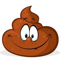 funny poo cartoon vector image