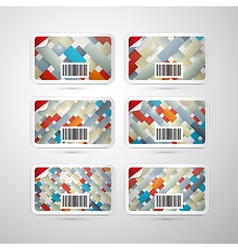 Gift Card Set With Retro Backgrounds vector image
