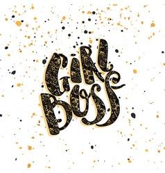 Girl Boss modern business concept of independent vector