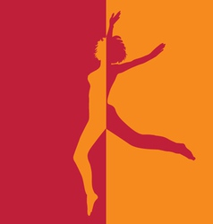 girl in high jump in two colors vector image vector image