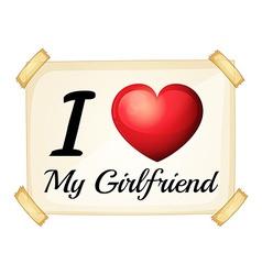 Girlfriend vector