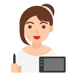 Graphic designer icon profession and job vector