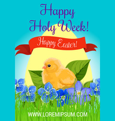 happy easter holy week paschal greeting vector image