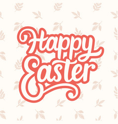 Happy easter typography poster template vector