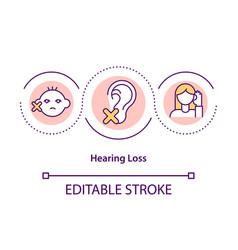 Hearing loss concept icon vector