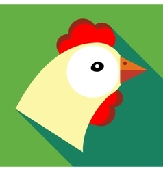 Hen icon in flat style vector image