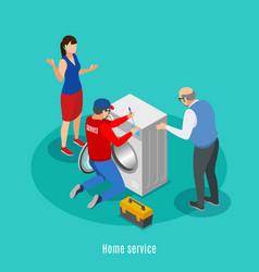 Home appliances repair background vector