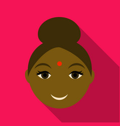 indian woman icon simple of indian woman icon for vector image