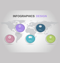 infographic design template with flat circle vector image