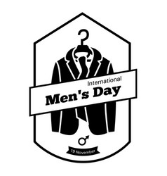 international men day clothes icon simple style vector image