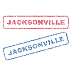 Jacksonville textile stamps vector